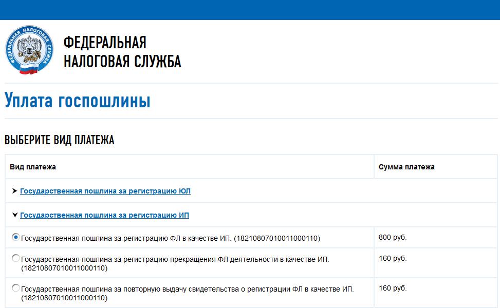 Госпошлина на регистрацию ип стоимость 3 ндфл декларация за 2019 скачать