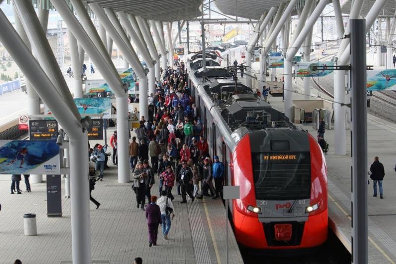 Пассажиры поезда