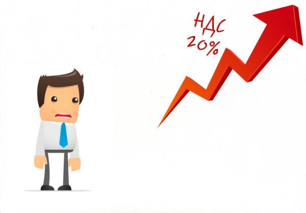 Ставка НДС в 2019 году составляет 20%