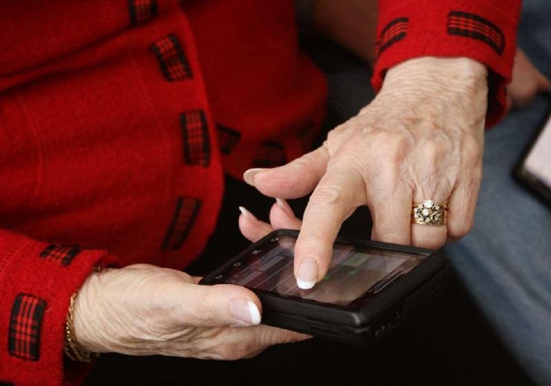 Мобильный у пенсионеров