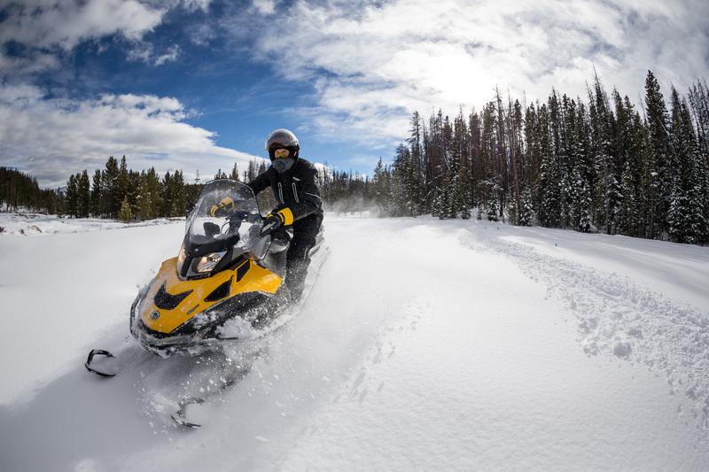 Снегоходы на дороге