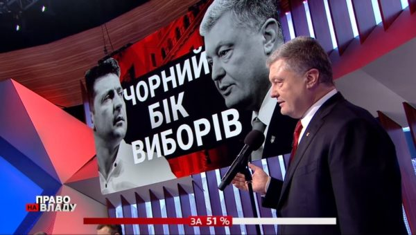 Пётр Порошенко в студии телеканала «1+1»