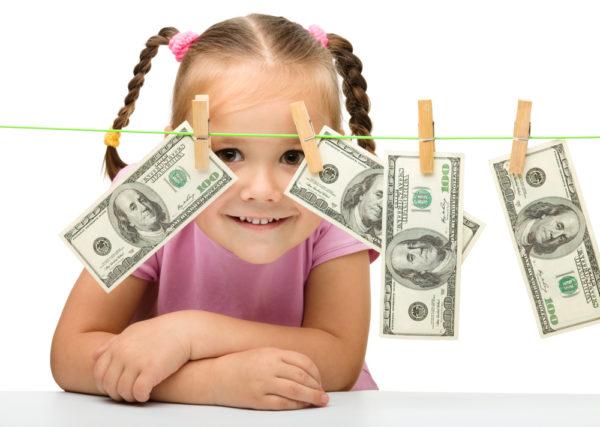 Девочка и доллары