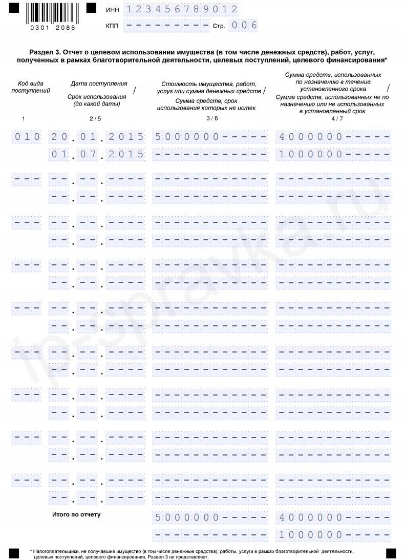 """Образец заполнения декларации УСН """"доходы"""" (форма КНД 1152017)"""