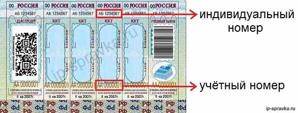 Учётный и индивидуальный номер марки-пломбы