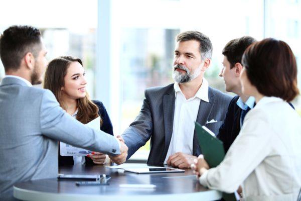 Встреча бизнесменов